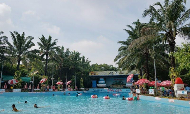 cong vien nuoc dam sen - Tả khu vui chơi giải trí Đầm Sen lớp 5 hay nhất - 3 bài văn miêu tả Đầm Sen nước, khô ở TPHCM