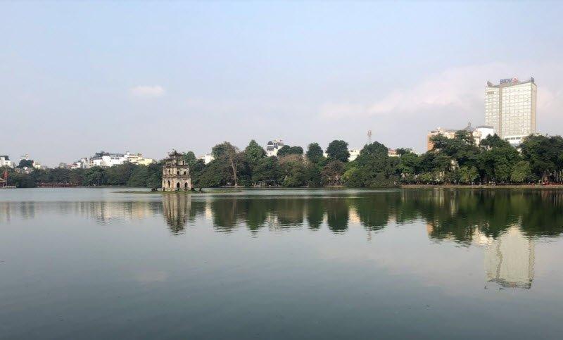 ho guom - Tả hồ Gươm lớp 5 hay nhất - 3 bài văn miêu tả hồ Gươm, Hoàn Kiếm, hồ con rùa ở Hà NỘi