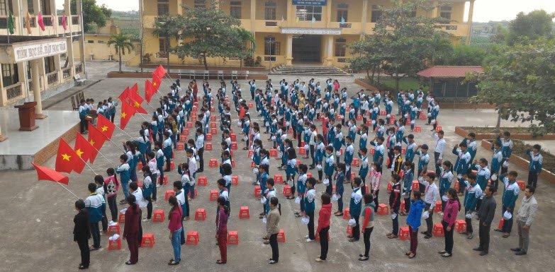 le chao co - Tả buổi lễ chào cờ đầu tuần lớp 5 ở trường em