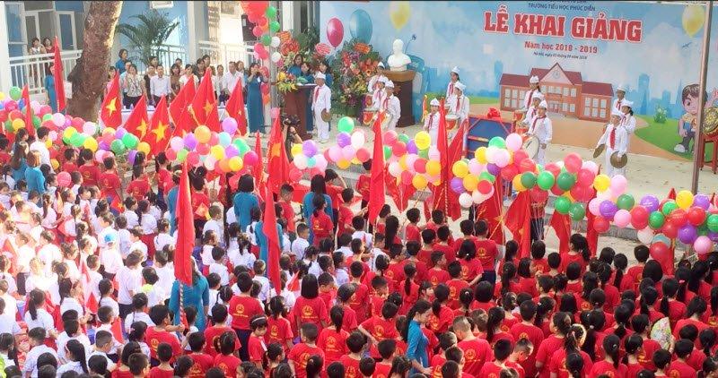 le khai giang - Tả buổi lễ khai giảng trường em lớp 5 hay nhất - 4 bài văn miêu tả lễ khai trường ngắn gọn