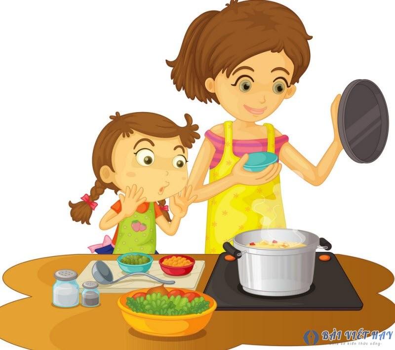 me dang nau com - Top 10 bài văn mẫu tả mẹ đang nấu cơm hay nhất