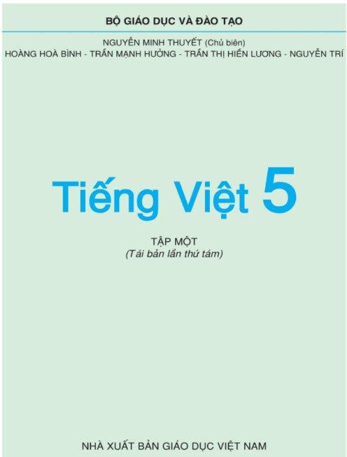 tieng viet lop 5 tap 1 - Tả quyển sách tiếng Việt lớp 5 tập 1 hay nhất - 3 bài văn miêu tả cuốn SKG Tiếng Việt 5 tập I