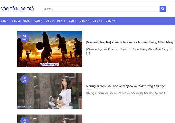 van mau hoc tro – nhung bai van mau hay nhat - Văn mẫu học trò – Những bài văn mẫu hay nhất