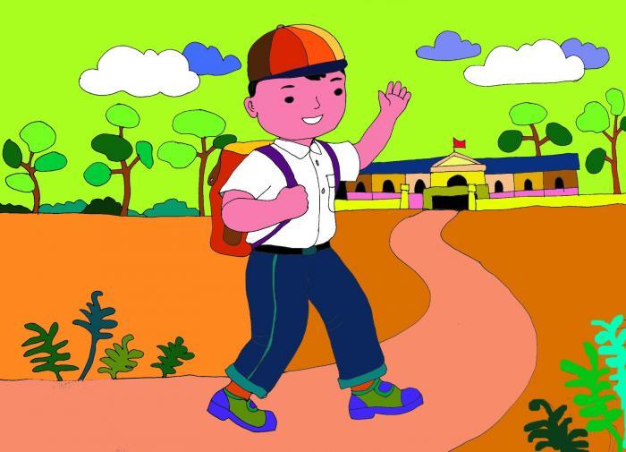 top 10 bai van mau ta con duong den truong 2 - Top 10 bài văn mẫu tả con đường đến trường