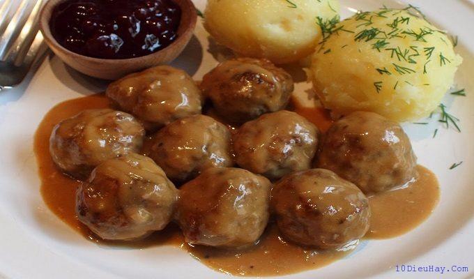 top 10 mon an ngon noi tieng nhat o thuy dien 4 - Top 10 món ăn ngon nổi tiếng nhất ở Thụy Điển