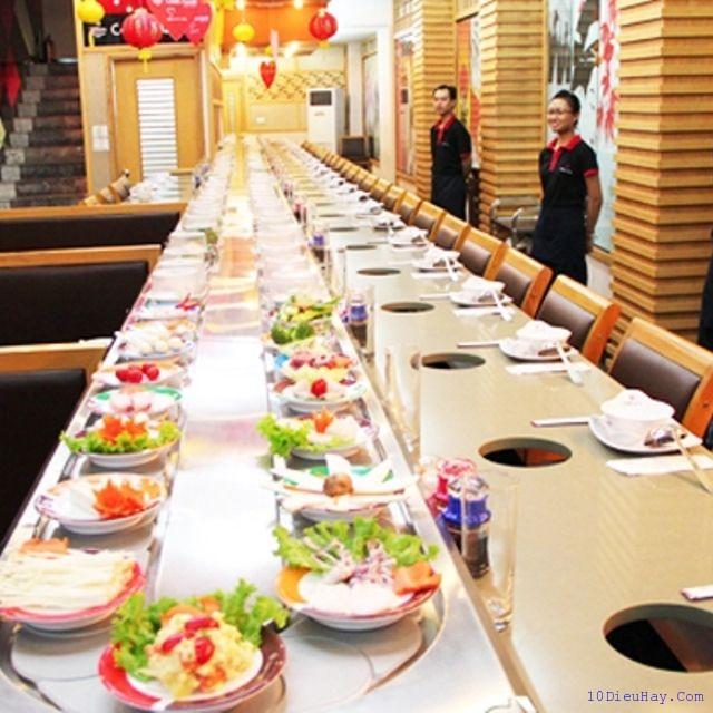 top 10 nha hang lau bang chuyen ngon nhat o ha noi 5 - Top 10 nhà hàng lẩu băng chuyền ngon nhất ở Hà Nội